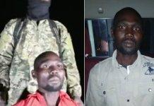 Bulus Yakuru em poder dos sequestradores [à esquerda]; e libertado [à direita]. (Foto: Reprodução / Daily Post / Breitbart)