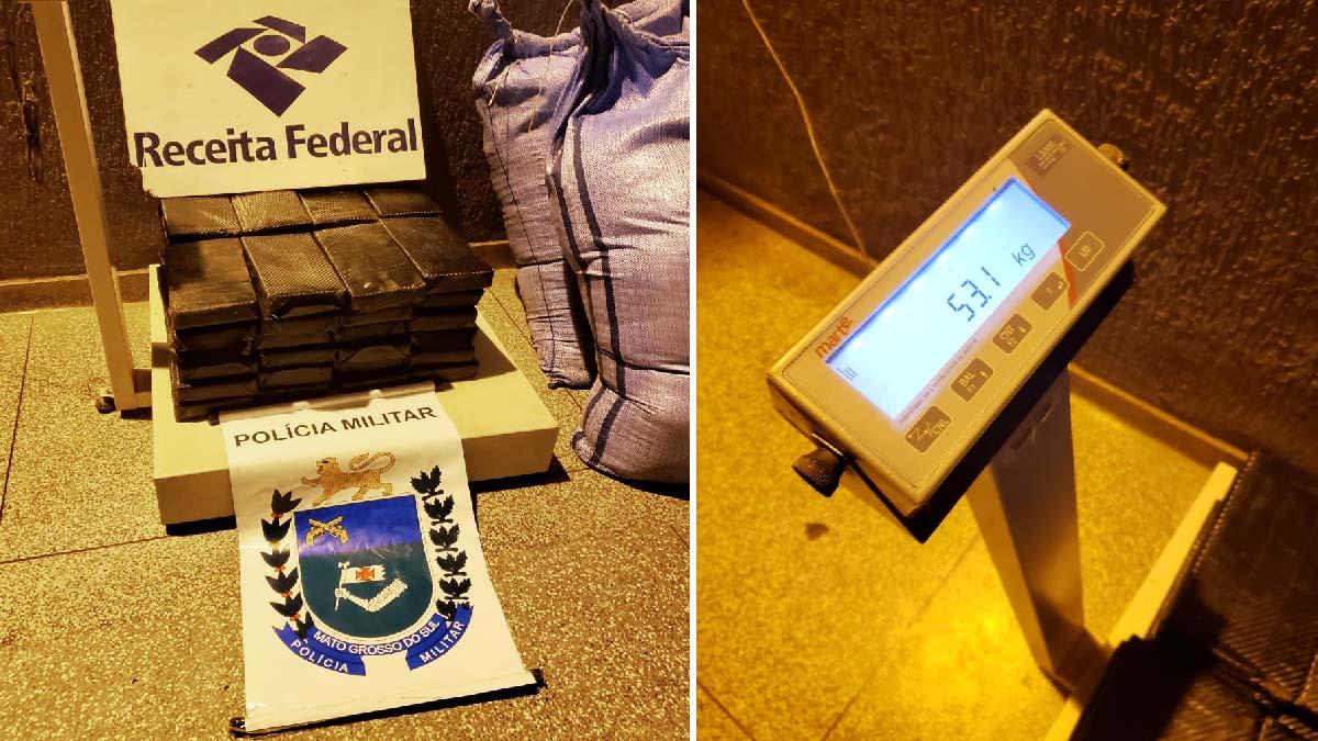 You are currently viewing Agentes da Receita Federal e Polícia Militar apreendem 53 Kg de cocaína na fronteira