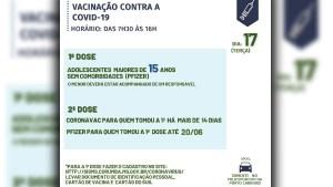 Read more about the article Adolescentes de 15 anos, podem se vacinar nesta terça-feira em Corumbá