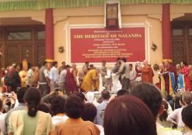 Dalai Lama em Nalanda