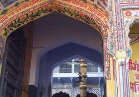 Um belo templo hindu no Rajasthan