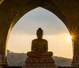 Buddha e o por do sol