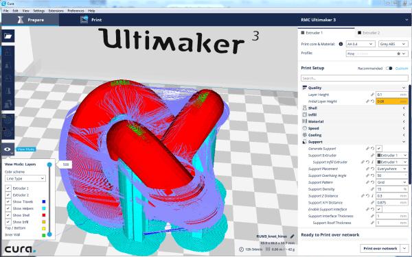 3D printer slice