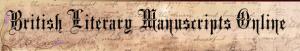British Literary Manuscripts Online logo