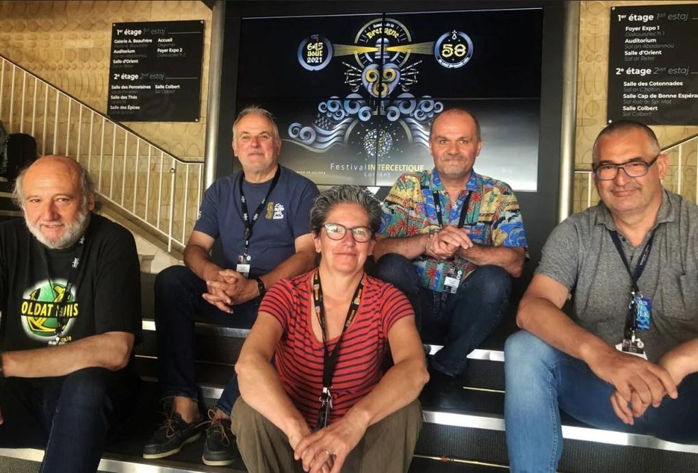 Les membres de Keltik Radio Media (avec Yves & Val!)