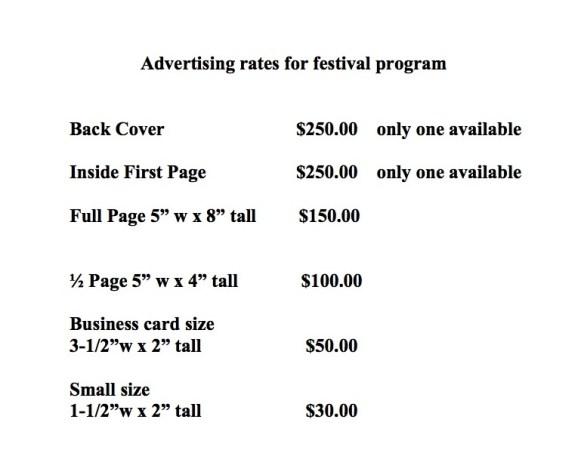 Advertising rates 2014
