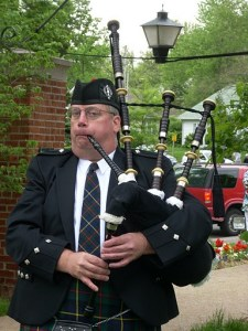 Paul Hinson on bagpipes