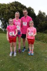 Jenny Quinn and Family at Race for Life