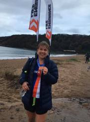 Emma Long at the Gower Marathon