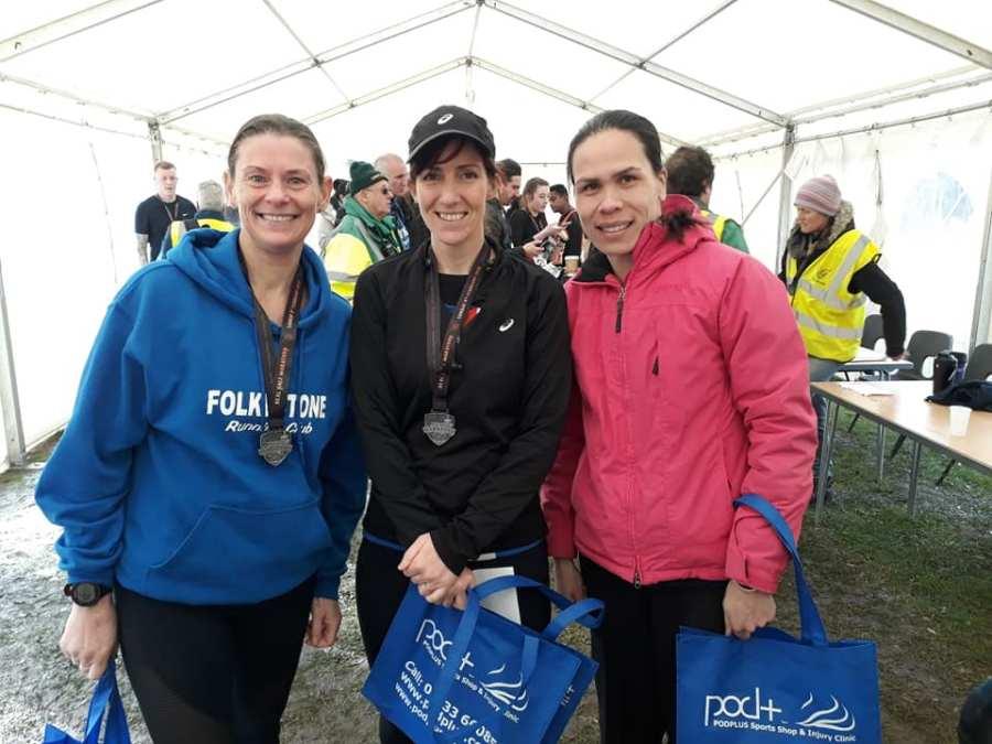 Ladies team winners at Deal Half Marathon
