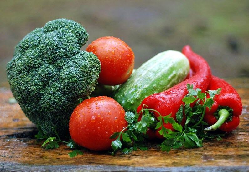 Hvor mange kalorier inneholder grønsakene
