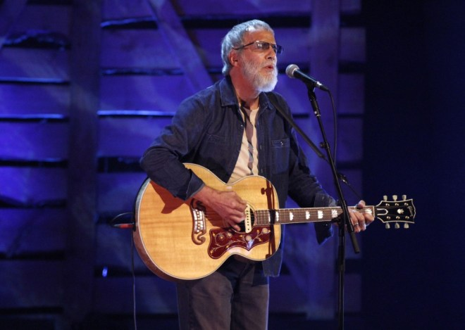 "BBC Radio 2 Folk Award 2015 Lifetime Achievement winner ""Mr Moonshadow"" Yusuf / Cat Stevens performing at the Cardiff Millennium Centre on the 22/04/15. Photo courtesy of the BBC."