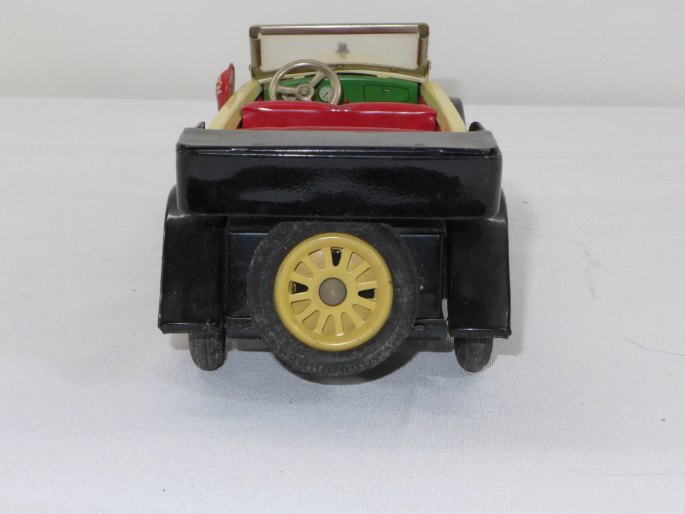 1960s Scarce Yonezawa Japan Roadster Automotive Car Tin Toy Friction Horn