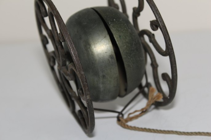 Early American Cast Iron Bell Chime Pull Toy
