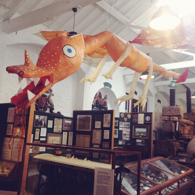 The withy dragon in the entrance to the museum.