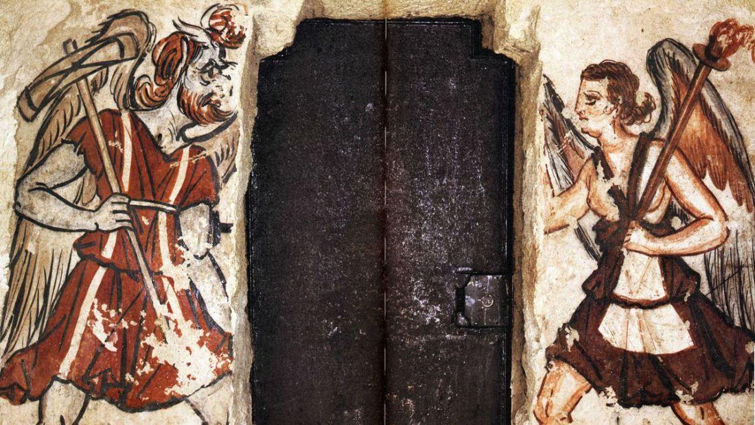 Charun and Vanth. Anina Tomb, Tarquinia.