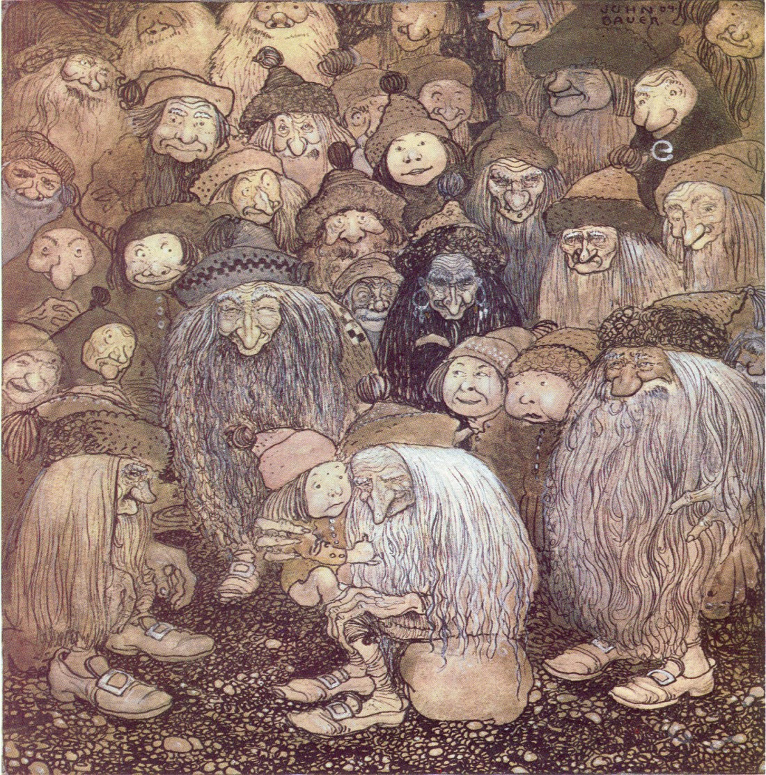 Trolls may form their own communities, but it is never our community. (The Trolls and the Gnome Boy © John Bauer)