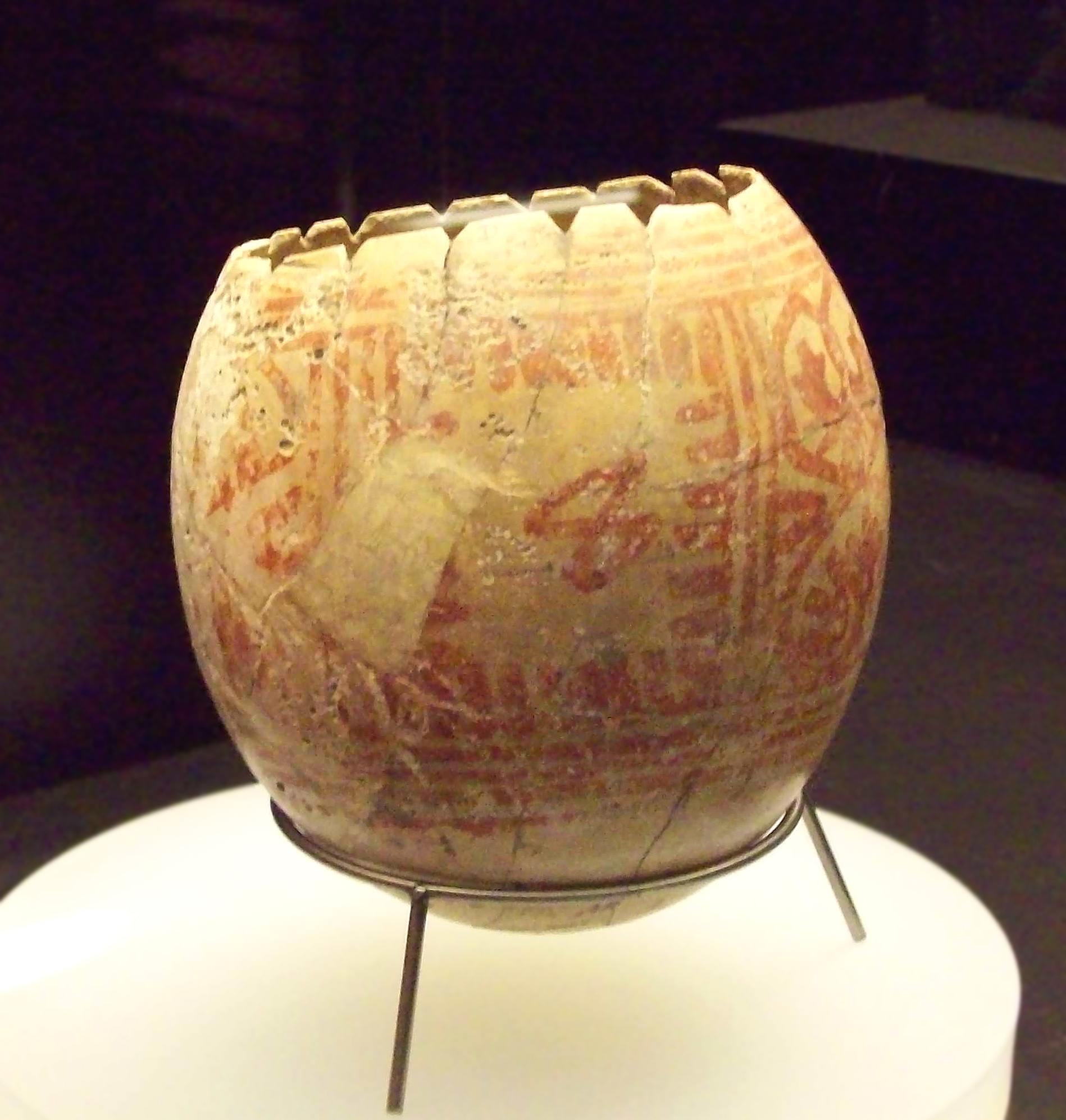 An ostrich egg decorated with Punic artwork, discovered in Andalusia, Spain and dating from between 599 and 300 BC (By Luis García, CC BY-SA 3.0, https://commons.wikimedia.org/w/index.php?curid=6445410)