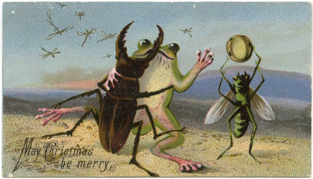 """""""May Christmas be Merry"""" (19th-century Christmas card) (via Lilly Library at Indiana University, Bloomington)"""