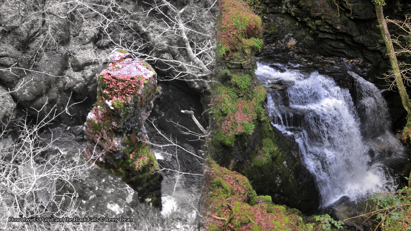 Huw Llwyd's Pulpit and the Black Falls © Remy Dean