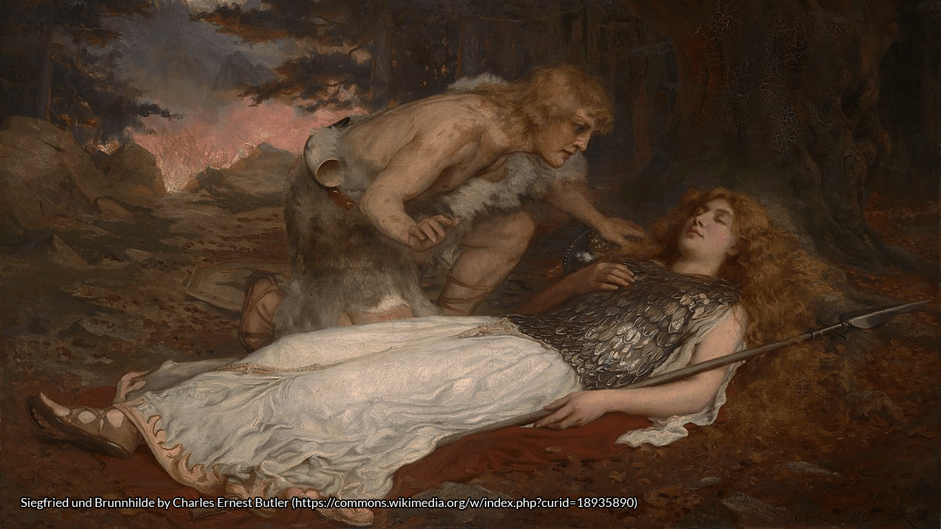 Siegfried und Brunnhilde by Charles Ernest Butler (https://commons.wikimedia.org/w/index.php?curid=18935890)