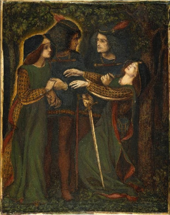 How They Met Themselves by Dante Gabriel Rossetti https://commons.wikimedia.org/wiki/File:Dante_Gabriel_Rossetti_-_How_They_Met_Themselves_(1860-64_circa).jpg
