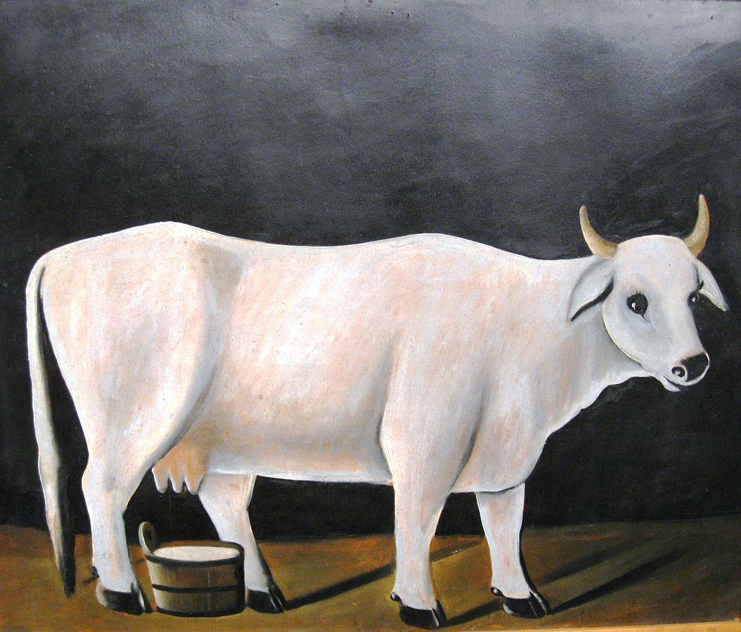 White Cow By Niko Pirosmani (1862 – 1918) https://commons.wikimedia.org/w/index.php?curid=10432027