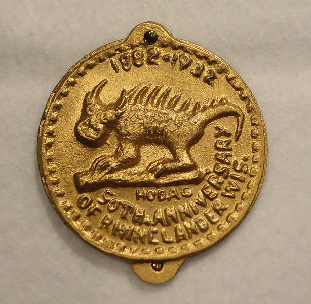 Gold coin depicting the Hodag