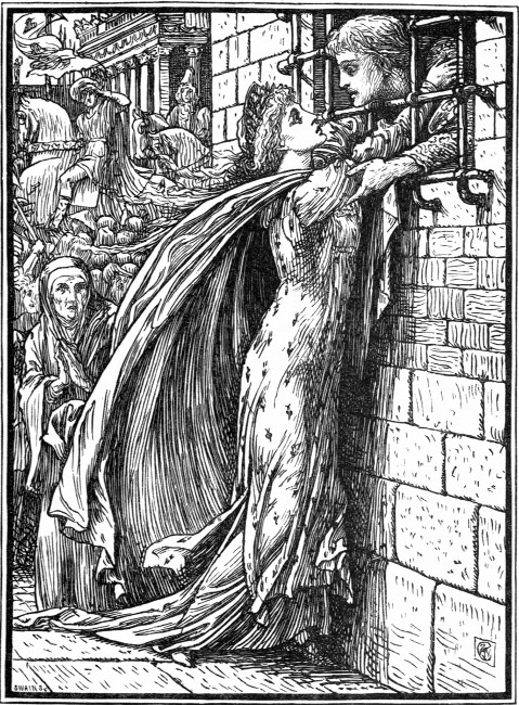 Illustration by Walter Crane for The Heart of Princess Joan, depicting Joan realizing Prince Michael is her beloved. By http://www.gutenberg.org/files/38976/38976-h/38976-h.htm#front, Public Domain, https://commons.wikimedia.org/w/index.php?curid=24499230