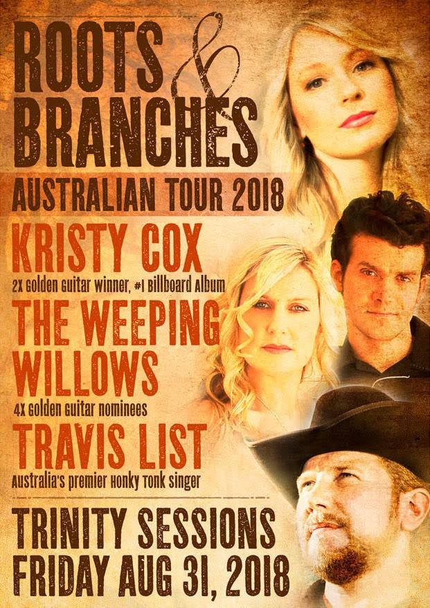 Kristy Cox, Weeping Willows, Travis List – Australian Tour