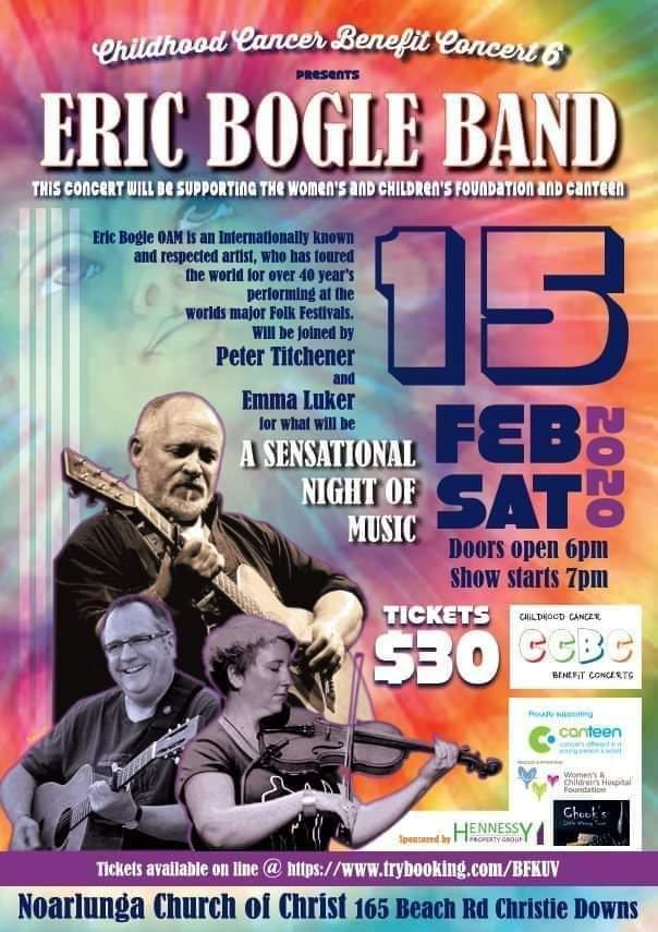Eric Bogle Band -Childhood Cancer Benefit