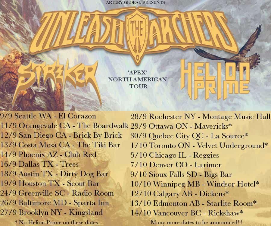 unleash the archers tour