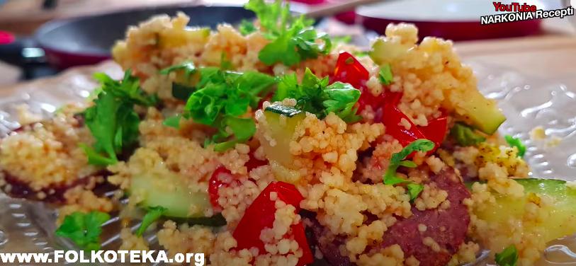 kus kus salata sa sudzukom salata kus-kus narkonia video recepti priprema