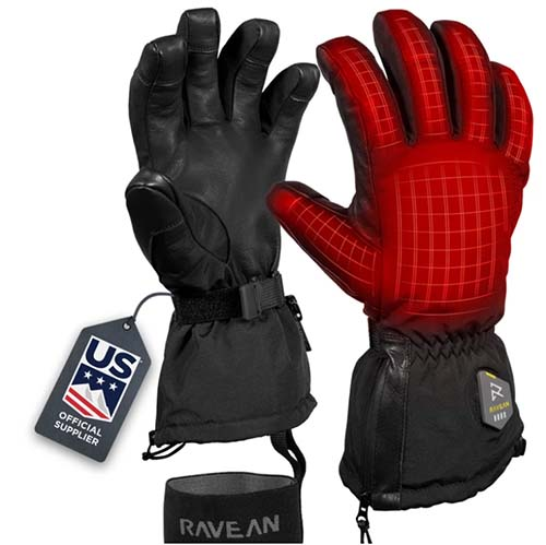 Ravean Heated Ski Gloves