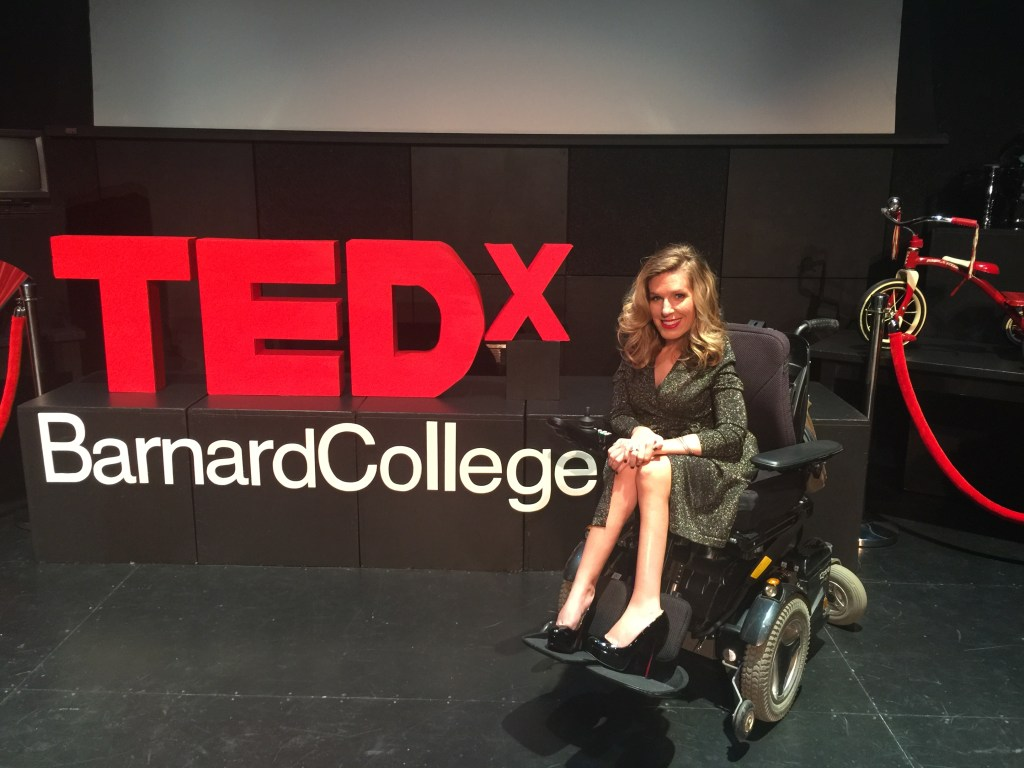 Danielle at a recent TEDx talk at Barnard College.