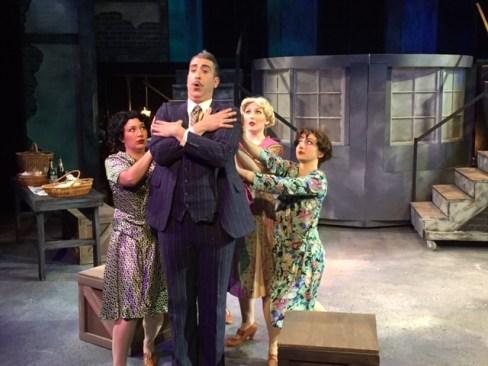Boni (William Roberts) ladies of the cabaret (Laura Martino,Clare,Lillie and Athena Kopulos)