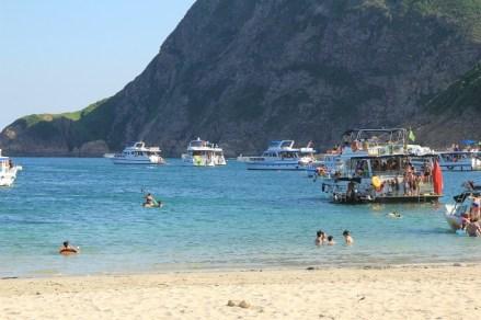 夏日的白腊沙灘