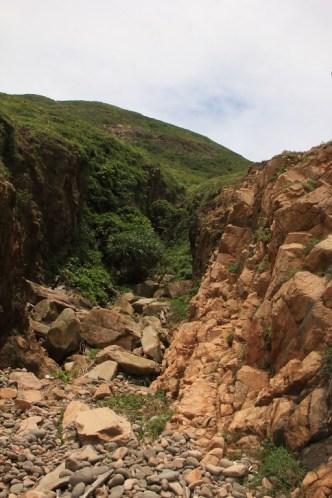 臨近石灘一段最為崎嶇