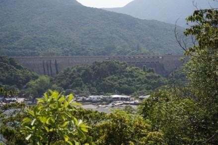 遠眺大潭篤的水壩