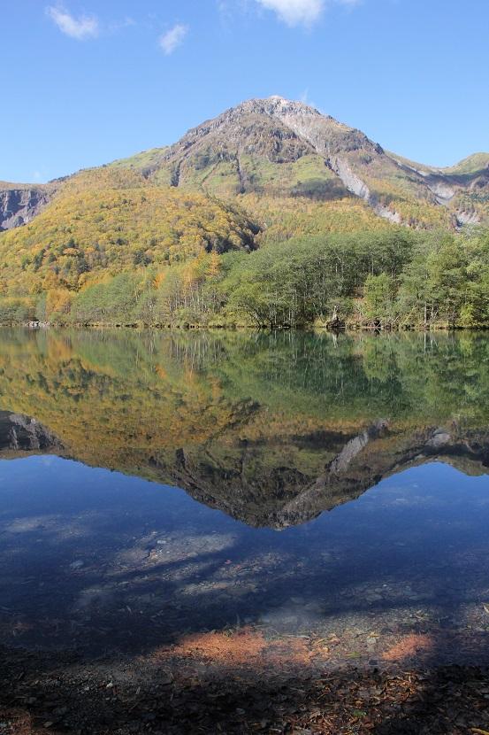 大正池及燒岳