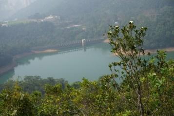 班納山上俯瞰香港仔水塘