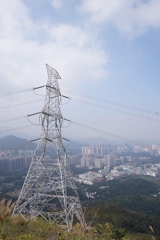 登山時經過的高壓電塔