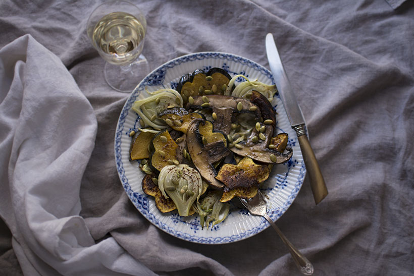 Plated Acorn Squash Salad