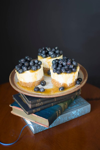 Ricotta Cheesecake with Blueberries