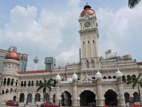 Das Sultan Abdul Samad Gebäude. Früher oberster Gerichtshof. Heute ein Ministerium. Eines der ältesten Gebäude der Stadt aus dem Jahre 1897.