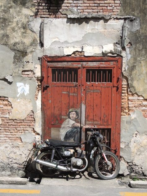 'Old Motorcycle' von Ernest Zacharevic