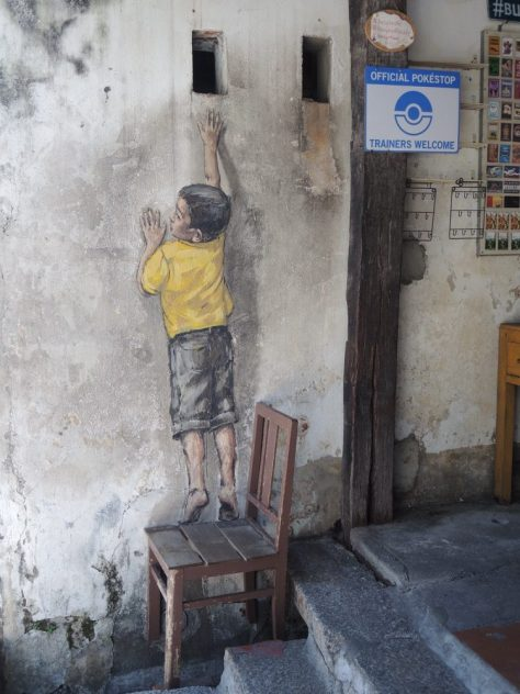 'Boy on Chair' von Ernest Zacharevic