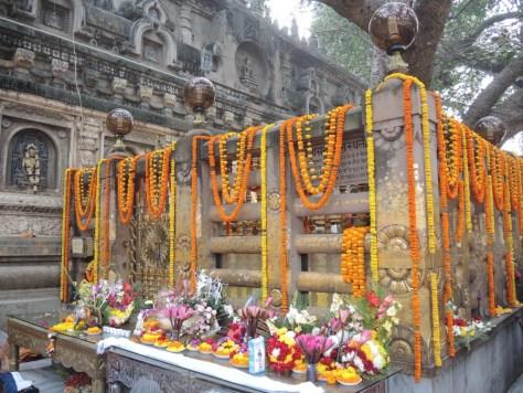 Vor dem Diamantenthron, die Stelle an der Buddha gesessen haben soll