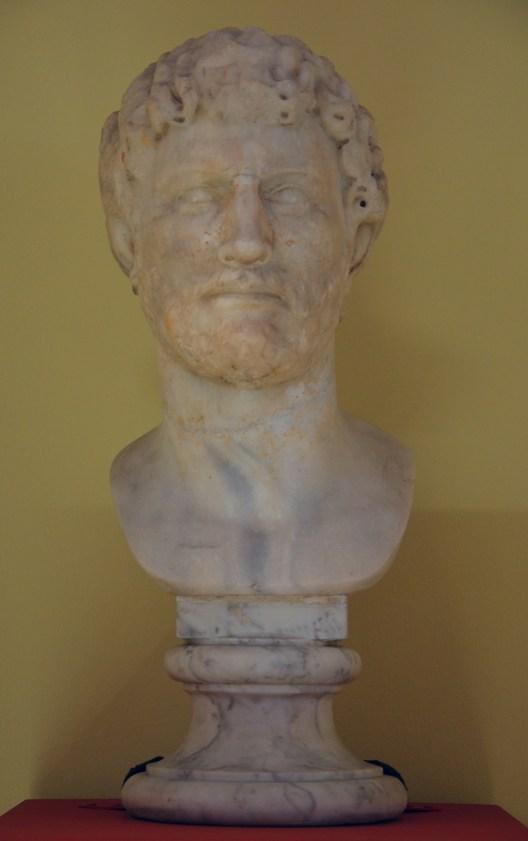 Marble portrait of Hadrian, before 130 AD, Mausoleum of Hadrian, Rome