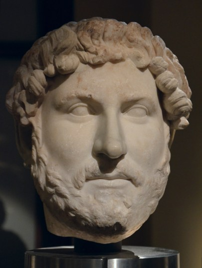Head of Hadrian, from the so-called Chiaramonti 392 type, from Italy, Vienna Kunsthistorisches Museum, Austria